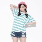 Secret;BB - Loose-Fit Stripe T-Shirt
