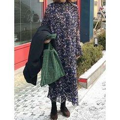 FROMBEGINNING - Floral Chiffon Maxi Dress