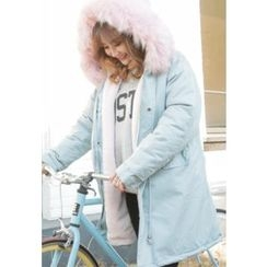 REDOPIN - Faux-Fur Padded Jacket