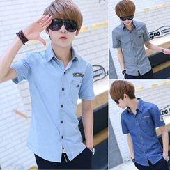 Sheck - Short-Sleeve Denim Shirt
