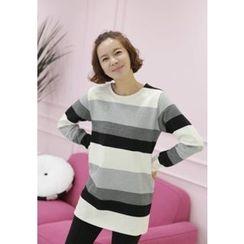 Lemite - Striped Brushed-Fleece Tunic