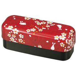 Hakoya - Hakoya Slim Compact Lunch Box Sakura Usagi Red