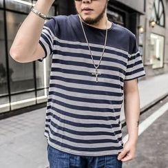 GARBO - Striped Short-Sleeve T-Shirt