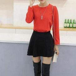 Fashion Street - Set: Long-Sleeve Top + Skirt
