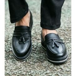 ABOKI - Faux-Leather Tassel-Detail Loafers