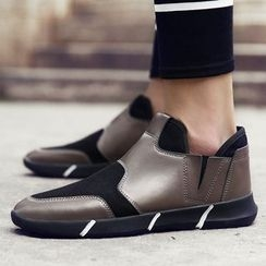 MR.GONG - Contrast Panel Slip Ons