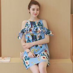 Cheer Mom - 孕妇印花直筒连衣裙