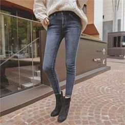 TOM & RABBIT - Brushed-Fleece Lined Skinny Jeans