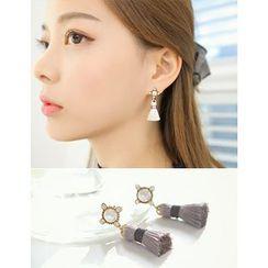 soo n soo - Faux-Pearl Tassel Dangle Earrings