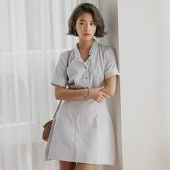 Clair Fashion - Plain Short-Sleeve Dress