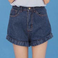 Dasim - Cuffed Denim Shorts