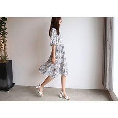 Hello sweety - Patterned Chiffon A-Line Dress