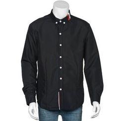 Hansel - Stripe Paneled Long-Sleeve Shirt