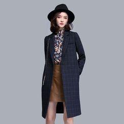 尚都比拉 - 飾縫線格子大衣