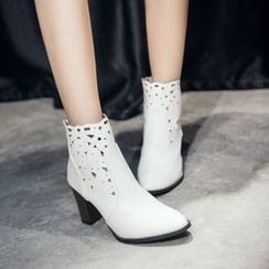 Pangmama - Perforated Ankle Boots