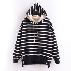 Tulander - Zip Side Striped Hoodie