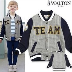 WALTON kids - Kids Lettering-Embroidered Snap-Button Jacket