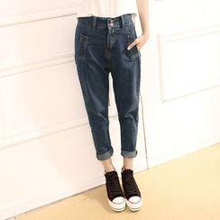 Kakyo - Cropped Harem Jeans