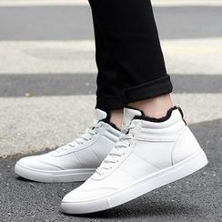MARTUCCI - Fleece-Lined High-Top Sneakers