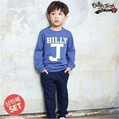 BILLY JEAN - Kids Set: Lettering T-Shirt + Band-Waist Pants