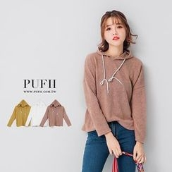 PUFII - Hooded Knit Top