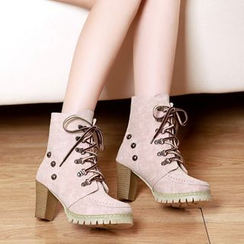 Kireina - Lace-Up Short Boots