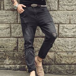 Mannmix - 做舊直筒牛仔褲