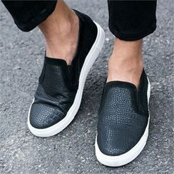ABOKI - Faux-Leather Slip-Ons