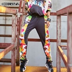 Cooreena - Printed Panel Sweatpants