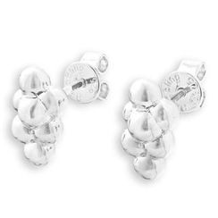 Bling Bling - Bling Bling Platinum Plated 925 Grapes Stud Earrings