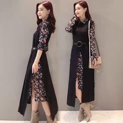 Romantica - Set: Printed Shirtdress + Knit Dress