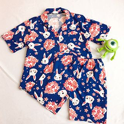 CIYEBABY - Pajama Set: Rabbit Print Top + Shorts