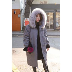 PPGIRL - Faux-Fur Padded Jacket