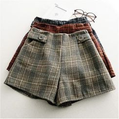 Storyland - Buttoned Plaid Shorts