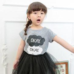 柠檬嘟嘟 - 小童短袖印字T恤
