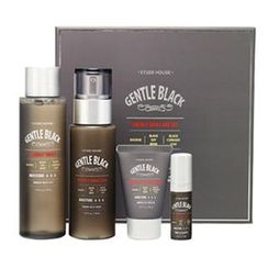 Etude House - Gentle Black Energy Skin Care Set : Toner 170ml + Emulsion 150ml