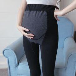 Oulimom - Maternity Fleece-Lined Stirrup Leggings