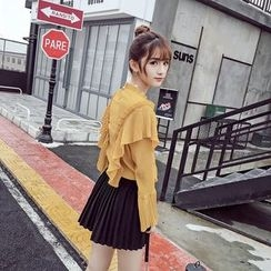 RUI - Pleated A-Line Skirt