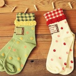 Gemini - Frilled Dotted Socks