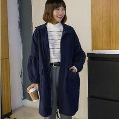 Oaksa - Balloon Sleeve Zip Coat