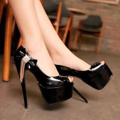 YOUIN - Platform High-Heel Peep-Toe Sandals