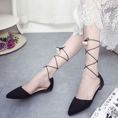 BAYO - Lace Up Pointed Flats