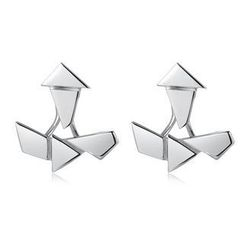 MBLife.com - Left Right Accessory - 925 Sterling Silver Geometric Set Earrings