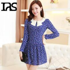 AiSun - Patterned Long-Sleeve Dress