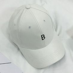 Ordinario - Faux-Leather Lettering Baseball Cap