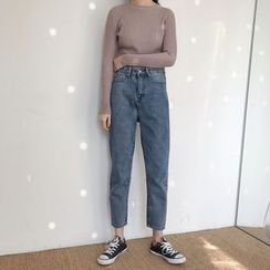 Anyu - High-Waist Slim-Fit Jeans