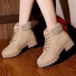 Renben - Lace Up Short Boots