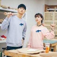 Simpair - Couple Matching Appliqué Sweatshirt