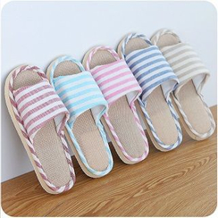 Good Living - Striped Couple Slippers