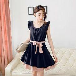 Tokyo Fashion - Tie-Waist A-Line Dress